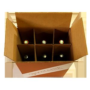 6 Bottle 1.5L Wine Storage Box (QTY: 5 Boxes)