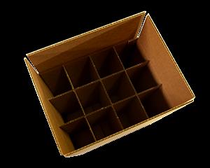 Upright Wine Storage Box - 12 bottles - 750 ML (QTY: 10 boxes)