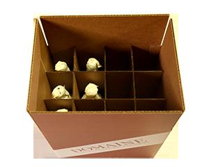 Upright Wine Storage Box – 12 bottles – 750 ML (QTY: 10 boxes) 4