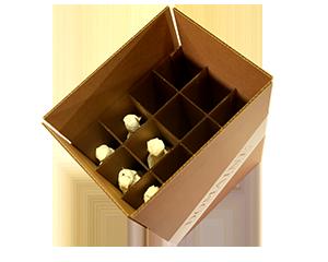 Upright Wine Storage Box – 12 bottles – 750 ML (QTY: 10 boxes) 2