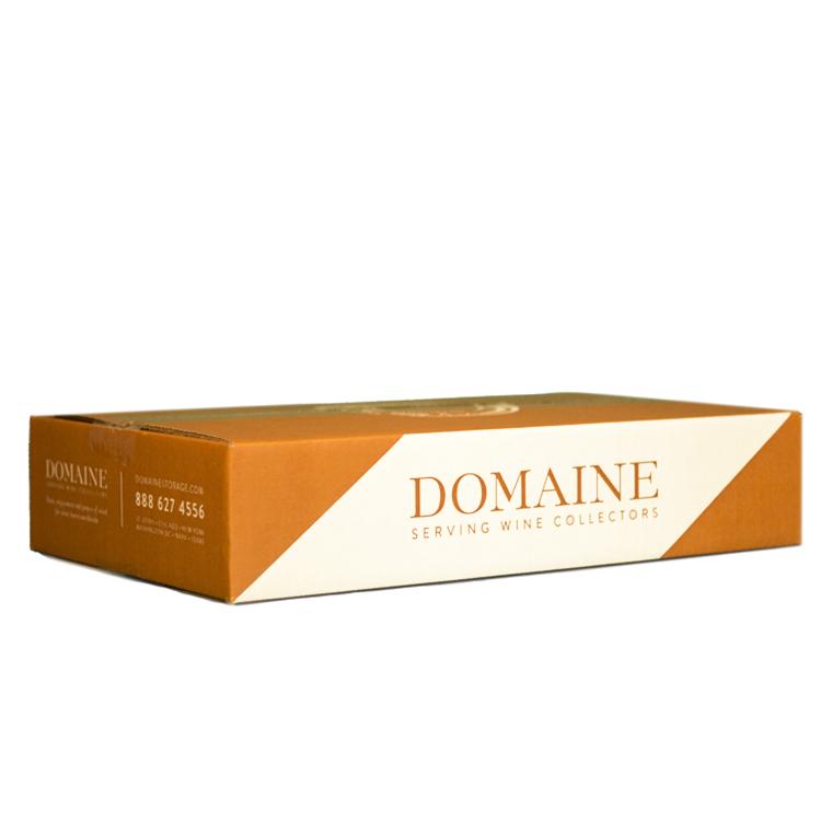 6 Pack Layflat Box – Domaine Cardboard Wine Storage Box – Corner