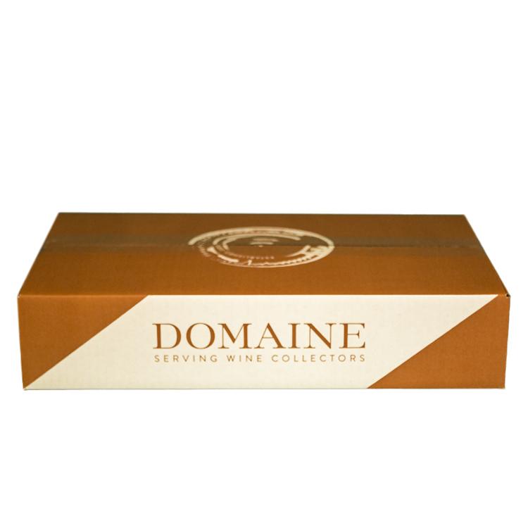 6 Pack Layflat Box – Domaine Cardboard Wine Storage Box – Side and Top