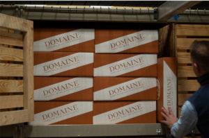 6 Bottle Wine Storage Box -Storage Locker - Maximize Your Storage Space - 6 Pack Layflat on Side - Domaine